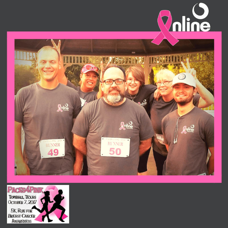 Inline employees participate in Paces4 Pink Tomball charity event for breast cancer awareness